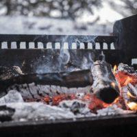 Im Winter Grillen